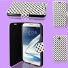 Polka Dots Pattern White Flip Case Cover for Samsung Galaxy Note II N7100