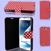 Polka Dots Pattern Red Flip Case Cover for Samsung Galaxy Note II N7100