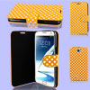 Dots Pattern Orange Flip Case Cover Protector for Samsung Galaxy Note II N7100
