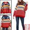 Ladies Softness Deer Pattern Knit Cuff Stretchy Long Sleeve Sweat...
