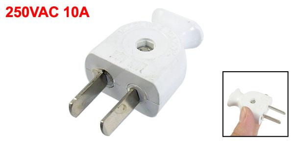250VAC 10A US USA AU 2 Flat Pin Rotation Power Cord Plug Connector