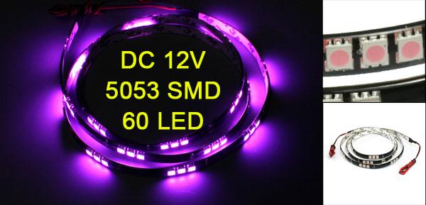Auto Car Purple 60 5053 SMD LED Light Flexible Lamp Strip 120cm