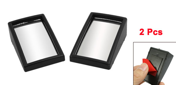 2 Pcs Black Safety Auto Car Rearview Blind Spot Mirrors