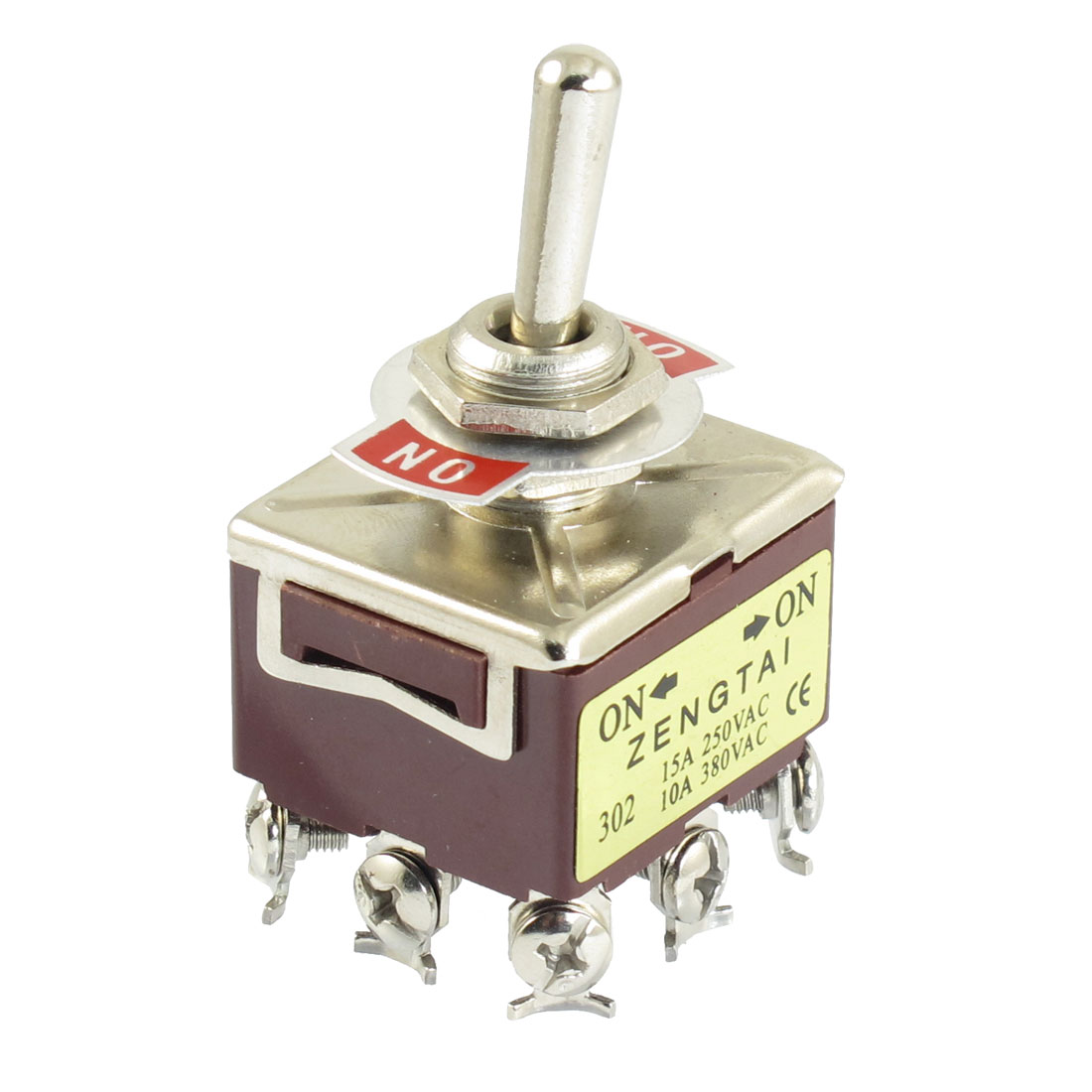 Panel-Mounted-ON-ON-2-Way-3PDT-Latching-Toggle-Switch-250VAC-15A-380VAC-10A