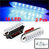 2 Pcs Blue 16 LED Car DRL Daytime Running Light Lamp w Bracket
