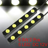 2 Pcs White 2x5 LEDs 0.5W Car DRL Daytime Running Light Lamp