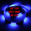 Auto Car Blue 30 5051 SMD LED Light Flexible Lamp Strip 60cm
