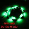 Auto Car Green 45 5052 SMD LED Light Flexible Lamp Strip 90cm