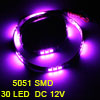 Auto Car Purple 30 5051 SMD LED Light Flexible Lamp Strip 60cm