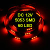 Auto Car Red 60 5053 SMD LED Light Flexible Lamp Strip 120cm