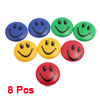 8 Pcs Multicolor 40mm Round Plastic Housing Smile Face Fridge Mag...