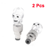 2 Pcs White Skeleton Head Tri Colors Changing LED Car Tyre Wheel ...