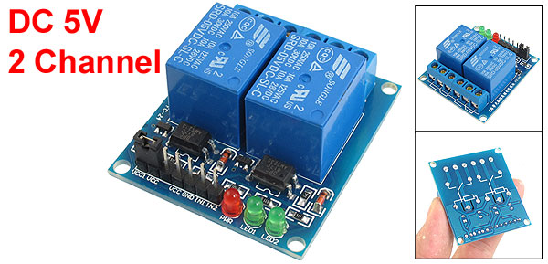 DC 5V 2-Channel Optocoupler Driver Relay Module for PIC ARM DSP AVR