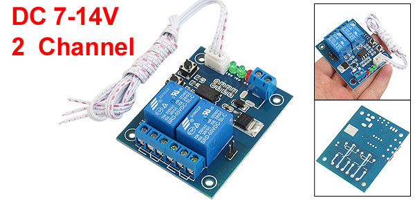 Latching Trigger Mode Two Channel Power Relay Module Model 7-14V DC