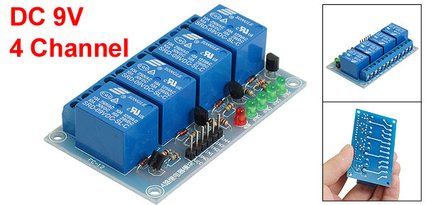 DC 9V 4-Channel Low Level Trigger DIY Relay Module for MCU