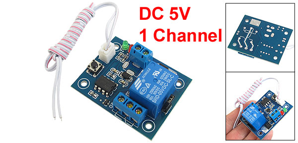 DC 7-14V 1-Channel Self Locking Trigger Mode Relay Module w Cable