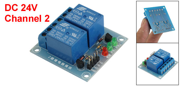 DC 24V 2-Channel High Level Trigger Relay Module for AVR DSP TTL