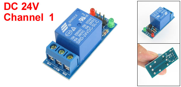 DC 24V 1-Channel Low Level Trigger Relay Module