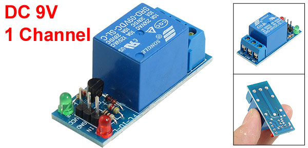 DC 9V 1-Channel Low Level Trigger Relay Module Blue