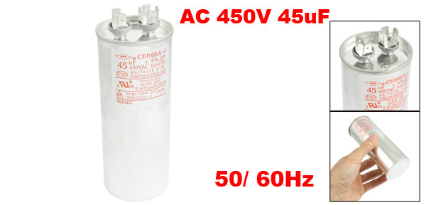CBB65A-1 AC 450V 45uF Polypropylene Film Motor Capacitor for Air Conditioner