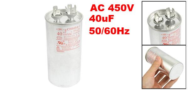 CBB65A-1 AC 450V 40uF 50/60Hz Metallized Polypropylene Film Motor Capacitor