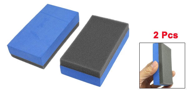 Home Car Truck Wash Foam Sponge Block Cleaner Tool Blue Gray 2 Pcs