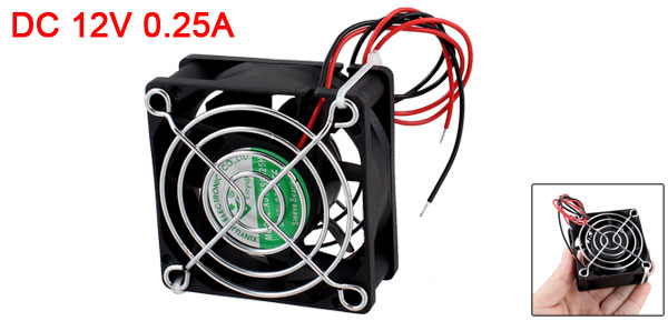 Computer Black Plastic CPU Cooler Square Cooling Fan DC 12V 0.25A