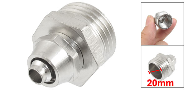 20mm Male Threaded 7mm Pipe Air Pneumatic Quick Coupler Connector