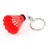 Plastic Badminton Dangling Pendant Keychain Keyring Hanging Ornament Red