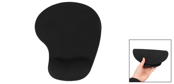 Home Office PC Computer Wrist Rested Soft Rubber Mouse Pad Black