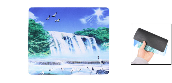 24cm x 20cm Waterfall Pattern Rectangle Shaped Mat Mouse Pad for Computer
