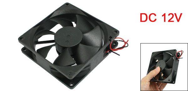 DC 12V 0.3A Desktop PC CPU Cooling Cooler Fan 90mmx90mmx25mm Black