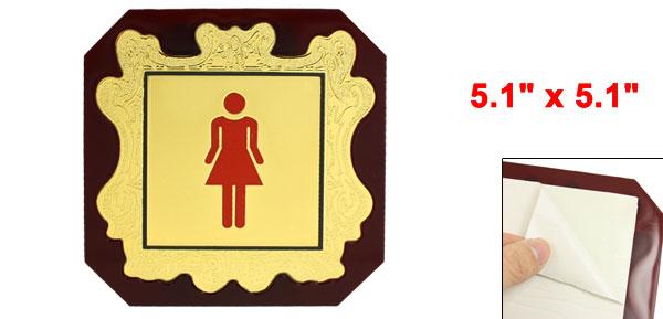 Women WC Graphic Sign Symbol Toilet Door Sticker 5.1