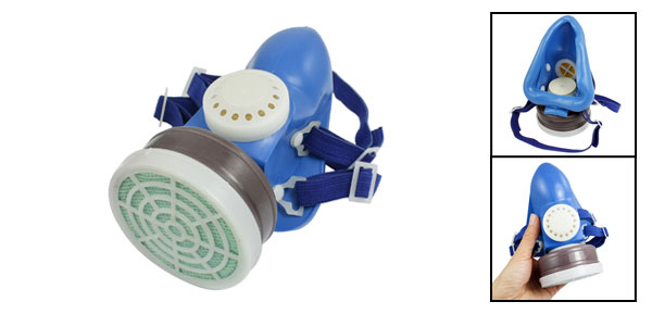 Dark Blue Elastic Strap Single Cartridge Air Filter Respirator Mask