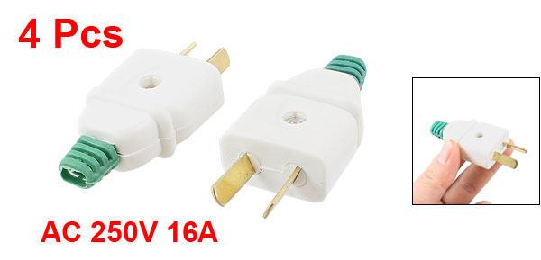 4 Pcs Rotatable AU US 2 Pin Power Plug Connector AC 250V 16A