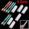 Assorted Color Soft Bristle Toothbrushes Plastic Combs 6 Sets for Adults