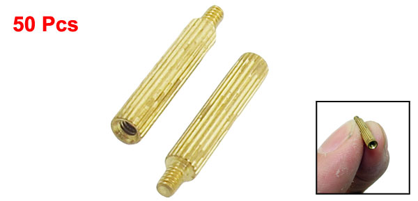 50 Pcs Male to Female Thread Brass Pillars Standoff Spacer M2x15mmx18mm