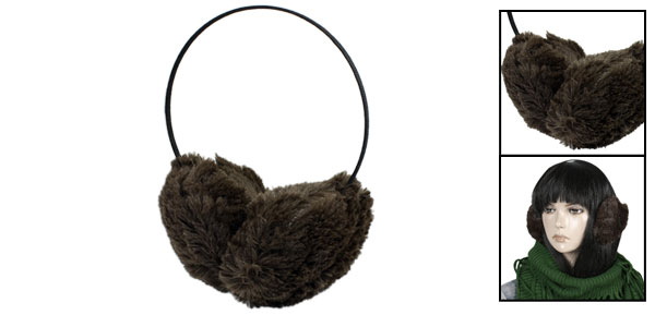 Chocolate Soft Plush Ear Muffs Earmuffs Winter Warmers for Women