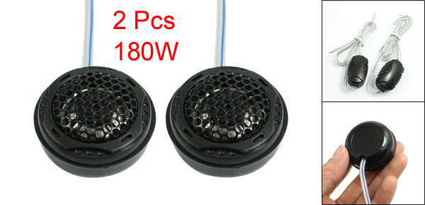 2 Pcs 180W Surface Mount 1.6 Diameter Dome Tweeters Speakers for Car