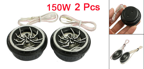Auto Car Spider Pattern Audio Loud Speaker Dome Tweeters 150 Watts 2 Pcs