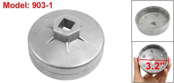 Auto Car 13mm Drive 75mm 15 Flutes Oil Filter Cap Wrench Socket Cup