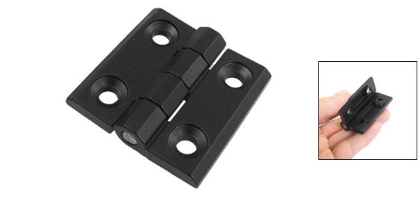 50mm x 50mm 2 Leaves Reinforced Aluminum Door Bearing Hinge Black
