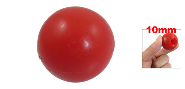 10mm Hole Diameter Moulded Thread Handling Ball Knob Red
