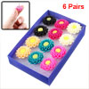 Multicolor Plastic Sun Floral Design Studs Earrings 12 Pcs for La...
