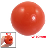 Red Plastic M12 x 40mm Diameter Round Ball Handle Knob
