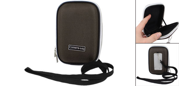 Black Nylon Coated Hard Plastic 2 Way Zipper Digital Camera Bag