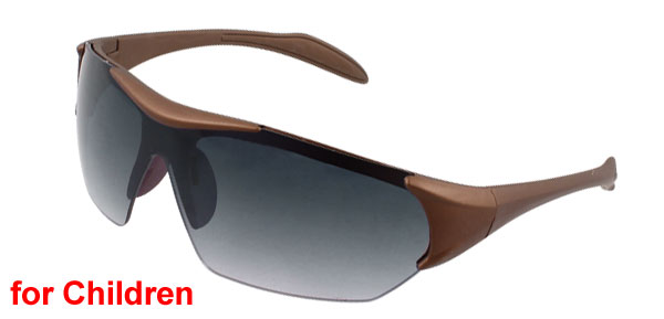 Children Brown Plastic Frame Arms Colored Lens Sunglasses