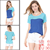 Lady Blue Scoop Neck Single Pocket Upper Pullover Design Casual B...