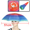 Beach Fishing Hands Free Headwear Polyester Rainbow Printed Umbre...