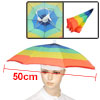 Outdoor Fishing Camping Folding Rainbow Pattern Polyester Umbrell...